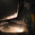 Il fiume sotterraneo della Grotta di Santa Ninfa.