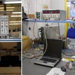 Fig.2 Banchi per elettronica, strumentazione di misura e calibrazione